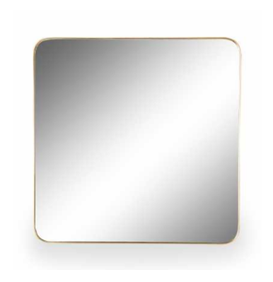 Small Square Gold Wall Mirror