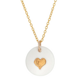 Porcelain Gold Heart Necklace