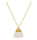 Porcelain Sunrise Gold Necklace
