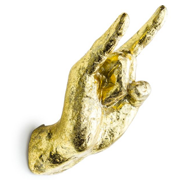 Gold Rock On Wall Hook