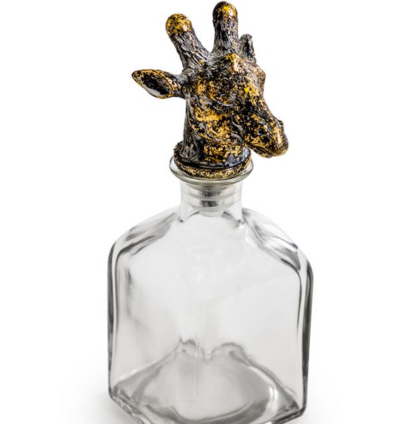 Giraffe Glass Bottle with Stopper