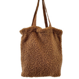 Teddy Tote Bag -Camel