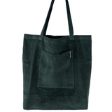 CORY corduroy shopper - Bottle Green