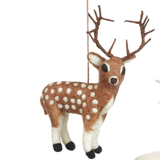 Brown Stag Felt Decoration