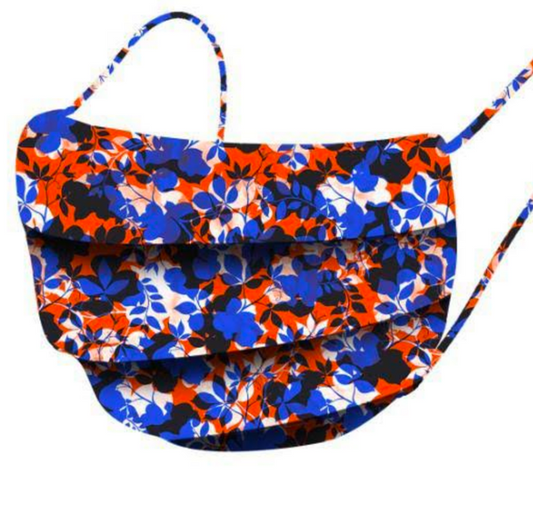 Colourful Facemask - Orange & Blue