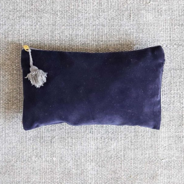 Navy Velvet Cosmetic Bag