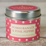 Pomegranate & Pink Pepper Tin Candle