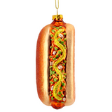 Hot Dog Glass Bauble