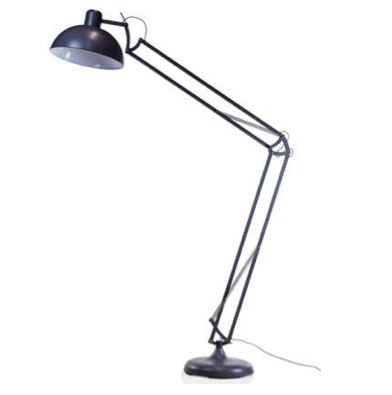 Matt Grey Floor Lamp