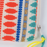 Neon Pom Pom Clutch Purse