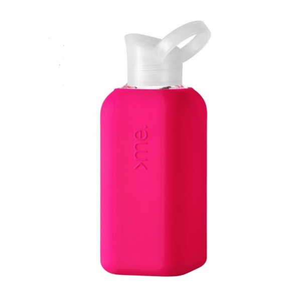 SquireMe - Glass Bottle 500ml, Pink