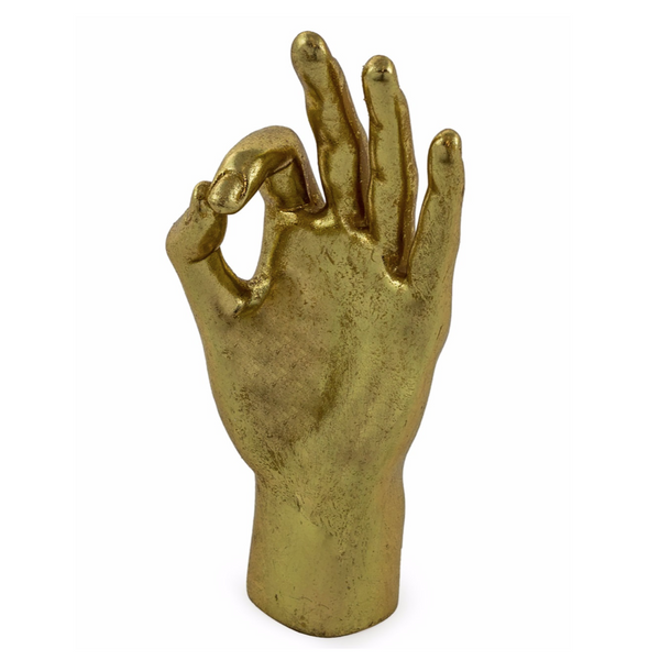 Gold OK Hand Figure