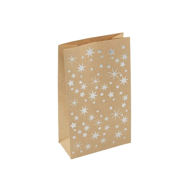 Set of 12 Gold Star Gift Bags