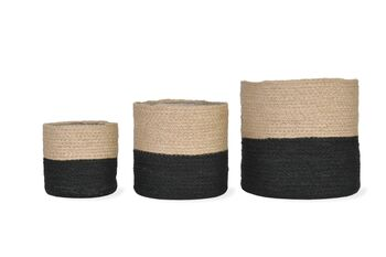 Jute Pots in neutral/black