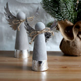 Small Cement Xmas Angel Decoration