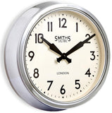 Smiths Retro Wall Clock Chrome - 38cm