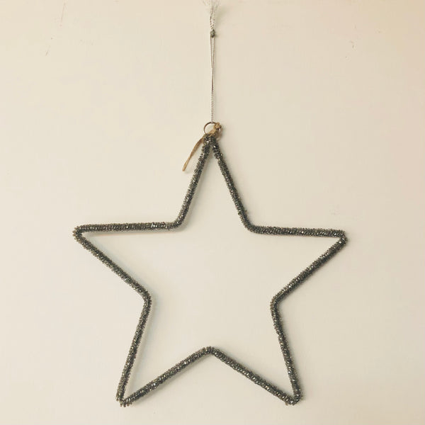 Small Silver Beaded Star