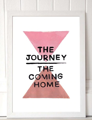The Journery and Coming Home -  A3 Print - Framed