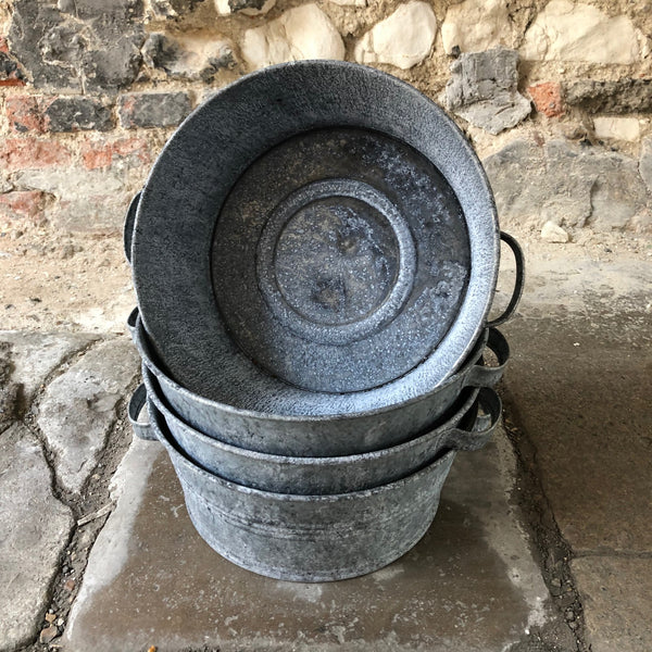 Small Vintage Style Galvanised Bowl