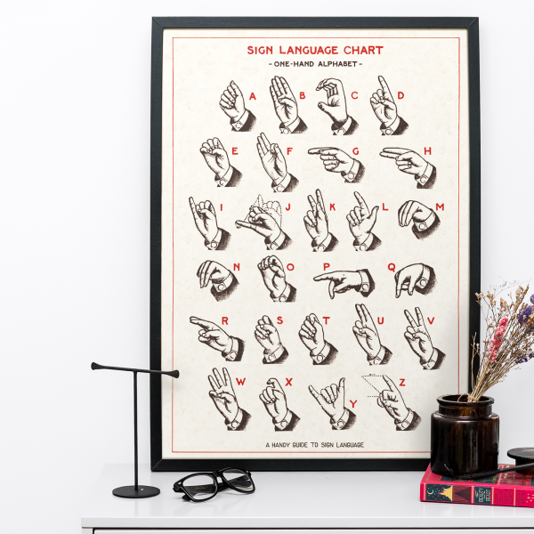 Sign Language Print