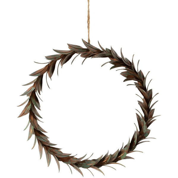 Wreath of Vintage Leaves