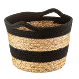 Black Rope and Grass Stripe Basket
