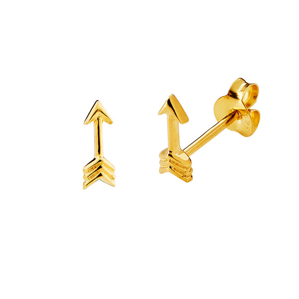 JUULRY Gold Arrow Studs