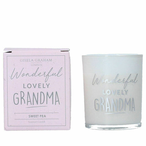 Sweetpea scented mini candle for Grandma