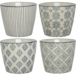 Grey and White Decorative Pots