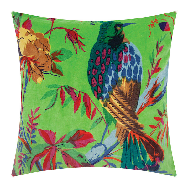 Bird of Paradise Cushion - Green