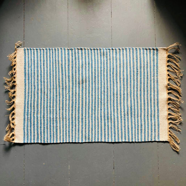 Blue and Natural rug 60x90cm