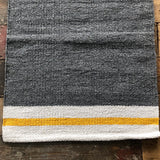 Grey Yellow Natural Stripe Rug 70x130cm