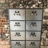 Industrial metal storage drawer unit