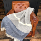 Grey and Blue Illusion Blanket
