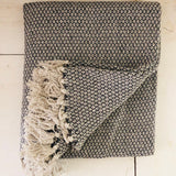 Grey Cotton Throw