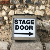 Vintage Metal Lightbox- Stage door