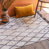 Hygge White and Black Rug