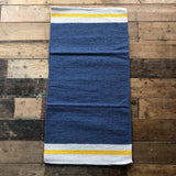 Blue Yellow Natural Stripe Rug 70x130cm