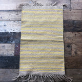 Yellow Natural Jute & Cotton Stripe Rug 60x90cm