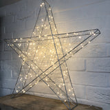LED Silver Fairy Light Star