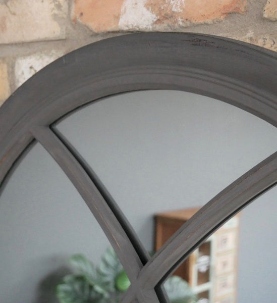 Dark Grey Arch Mirror - Large