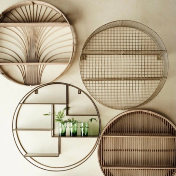 Bamboo Circular Wall Shelf