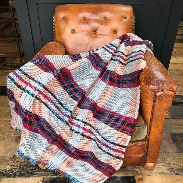 Recycled All Wool Blanket - Deep Red