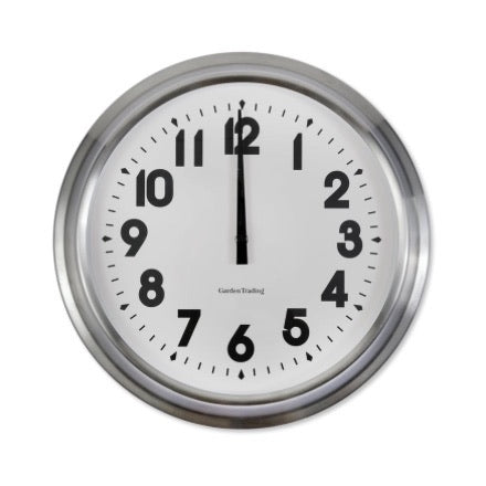 Stainless Steel Clock