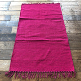 Pink Cotton Plain Rug 90x150cm