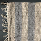 Grey and Natural Thick Stripe Rug 60x90cm