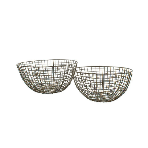 Wire Round Baskets - Medium and Large