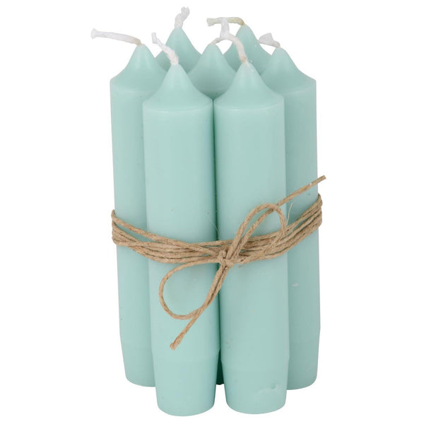 Mint Green Short Dinner Candle