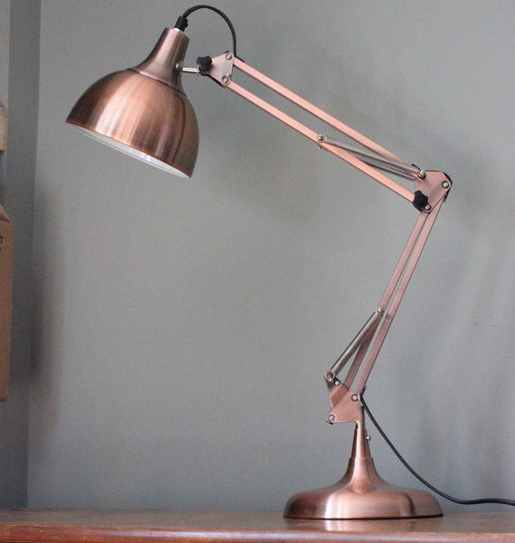 Copper Angle Desk Lamp