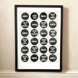 Gosh Quotes - A3 Print - Framed
